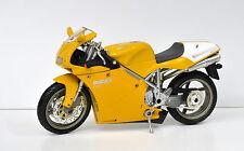 Ducati 998s gelb Motorrad Modell 1:12 von NewRay die cast model