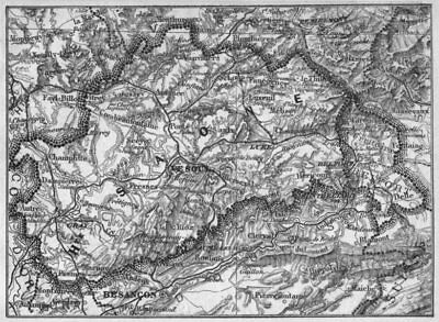 1878 Old Antique Vintage Map Plan Chart Saone haute- Haute-saÔne