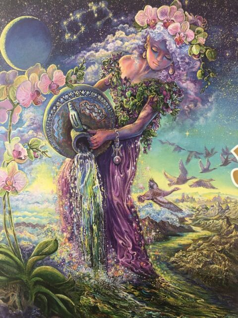 "Josephine Wall ""Aquarius"" Buffalo Games 1000 Piece Glitter Puzzle FACTORY SEALED"