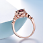 1-6ct-Cushion-Cut-Red-Garnet-Engagement-Ring-Diamond-Halo-14k-Rose-Gold-Finish thumbnail 4