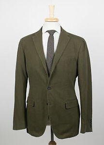 New. POLO RALPH LAUREN Olive Green Cotton 3 Button Sport Coat ...
