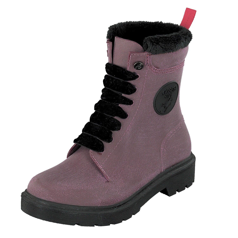 Gosch zapatos Sylt Mujer botas botas botas de Goma Cordones 71051 301B 55 Burdeos Resistente  Nuevos productos de artículos novedosos.