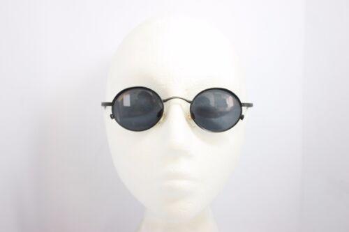 Alpina Serious Vintage Sunglasses Oval Round NOS 44mm Soho Gunmetal Austria