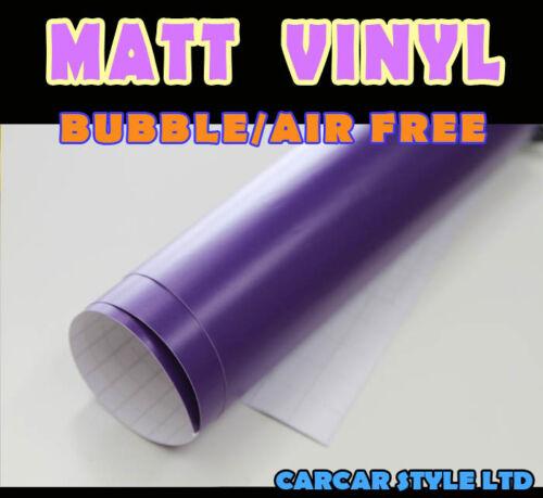 Bubble Free Vehicle Wrap Vinyl Sticker 7.9in x 0.2m 3.9in 【MATT PURPLE】0.1m