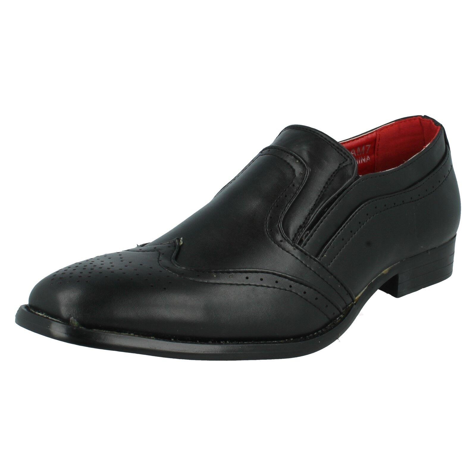 Maverick Hombre sin Cordones Sintético Plano Escudete Zapato Oxford Formal Plano Sintético e31d7d