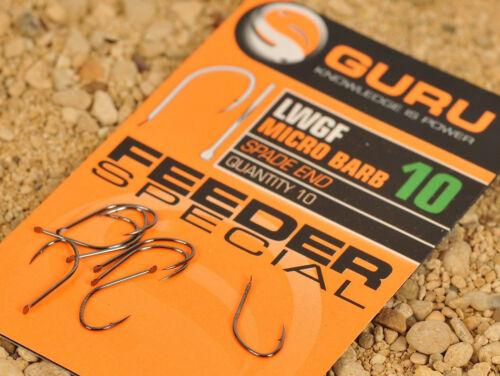 All Sizes Guru LWG Feeder Hooks Coarse /& Carp Fishing
