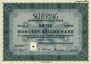 Courageux Schering Berlin 1938 Cendres Hambourg Bayer Leverkusen 100 Rm Cendres & Co. Kahlbaum-afficher Le Titre D'origine éConomisez 50-70%