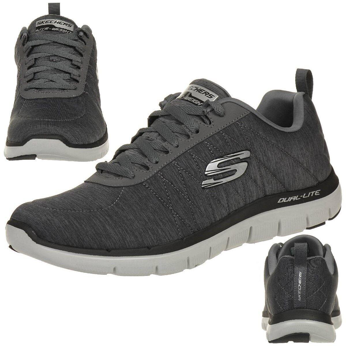Skechers Skech Flex Advantage Herren Sneaker Fitness Schuhe grey Relaxed Fit