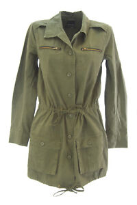 DOLCE-VITA-Women-039-s-G-I-Olive-Green-Cotton-Drawstring-Military-Jacket-209-NEW