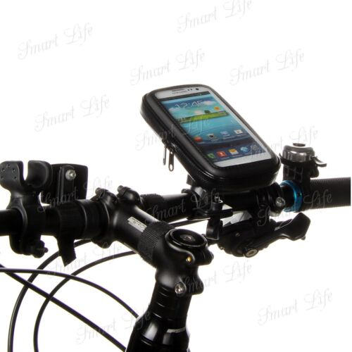 Mobile Bicycle Bike Handle Bar Holder Water Proof Rain Case Cover Fit Galaxy S8