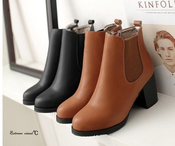 vendite calde Stivali Stivali Stivali stivaletti stiletto scarpe donna 7.5 mrrone nero comode simil pelle 8280  la migliore selezione di