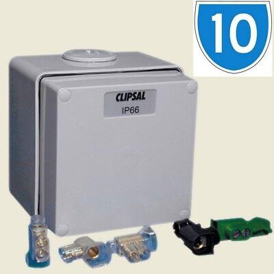 Klug 10x Clipsal Weatherproof Plastic Junction Earth Fuse Box Enclosure 1 Gang Ip66 Aromatischer Charakter Und Angenehmer Geschmack