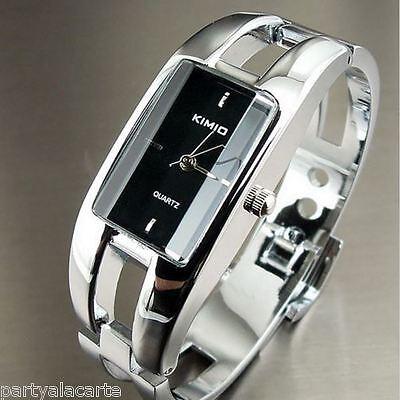 Kimio Branded Stainless Steel Bangle Women Watch Bracelet Girl Wristwatch