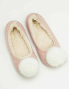 BRAND NEW LADIES BALLERINA SLIPPERS IN PINK OR GREY