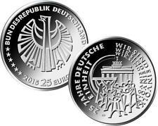Gedenkmünze 25 Euro Silbermünze 2015 bfr 25 Jahre Deutsche Einheit Mz J