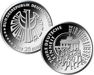Moneda-conmemorativa-moneda-de-plata-2015-bfr-25-anos-Aleman-Unidad-MZ-D
