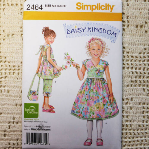 Purse 3-8 Capri Simplicity 2464 Daisy Kingdom Dress
