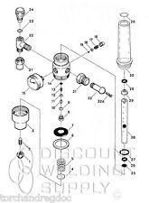 Repair Kit Victor Hrf 2425 Regulator Flowmeter Rebuild Part Vic 0790 0132