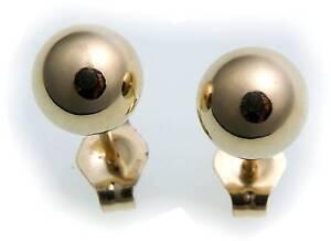 Damen-Ohrringe-Stecker-Kugel-Gold-585-Gelbgold-Ohrstecker-Qualitaet