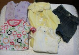 Lot of 5 Baby Girl Clothes Various Types SZ 3 Months