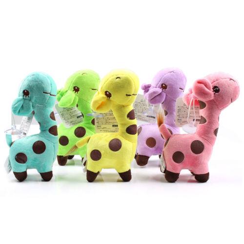 Kids Child Giraffe Dear Soft Plush Toy Little Baby Animal Doll Party Gift 18CM