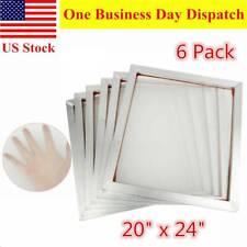 6 Packs 20 X 24 Aluminum Silk Screen Printing Frames Screens White 160 Mesh