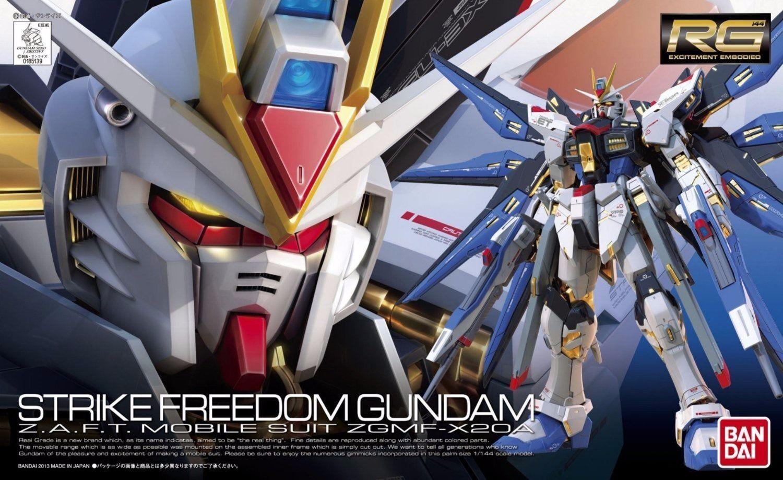 BANDAI RG 1 144 ZGMF-X20A STRIKE FREEDOM GUNDAM Model Kit Gundam SEED NEW Japan