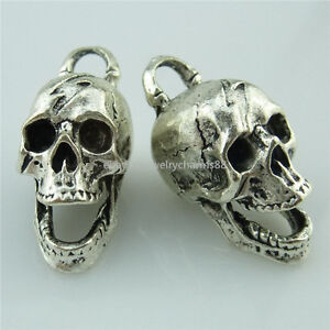 13980-5PCS-Antique-Silver-Ghost-Skull-Skeleton-Pendant-Halloween-Jewelry-Making