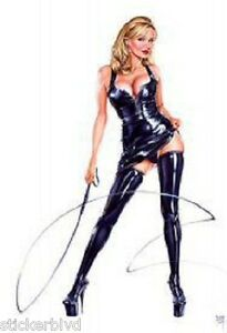 leather with in whip Blonde