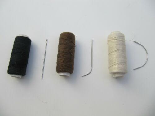 Choose 3 Hair Extensions Hair Weft Weaving Sewing Thread and 1 Sewing Needle