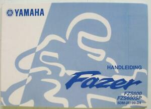 YAMAHA-Fazer-FZS600-FZS600SP-5DM-28199-D4-2000-Motorcycle-Owners-Handbook-Dutch