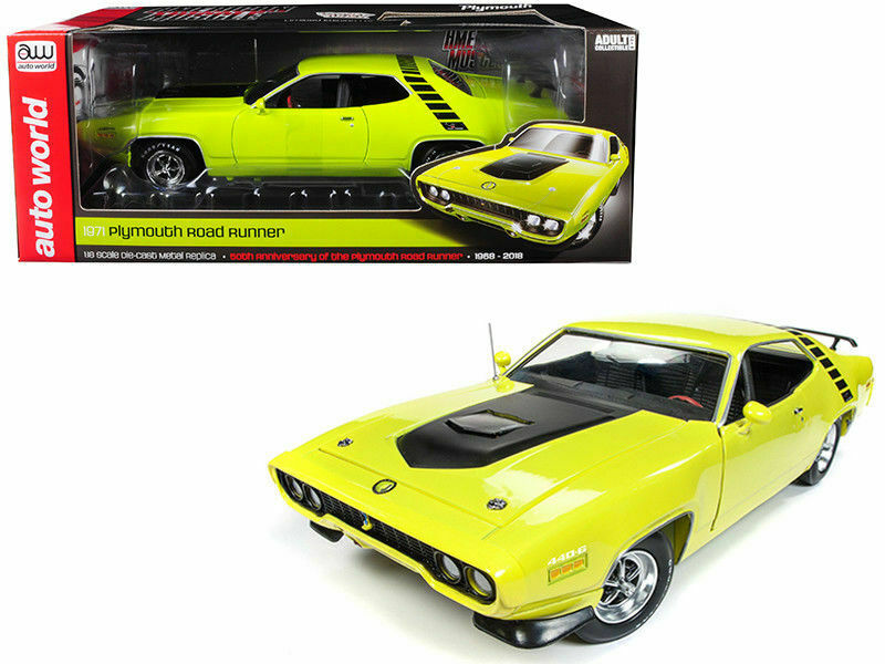 Car World 1 18 American Muscle 1971 Plymouth Road Runner 50th Anniversary