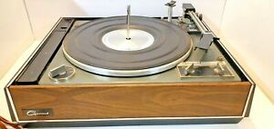 Vintage-Garrard-Turntable-Synchro-Lab-75-SPINS-SOLD-FOR-PARTS-OR-REPAIR-034-AS-IS-034