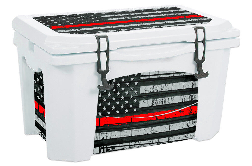 USATuff Custom Cooler Wrap Decal fits Grizzly 75qt L+I USA ROT Line Flag