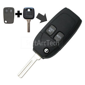 Flip key shell fit for refit volvo s40 v40 s80 xc70 2 button remote image is loading flip key shell fit for refit volvo s40 publicscrutiny Image collections