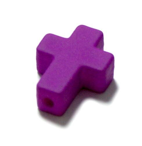 Kreativsets für Kinder Farbenfrohe Kreuz Perlen /Neonfarben 16*12mm /Kinder/ Baby/ Taufe/ Geburt/Ostern