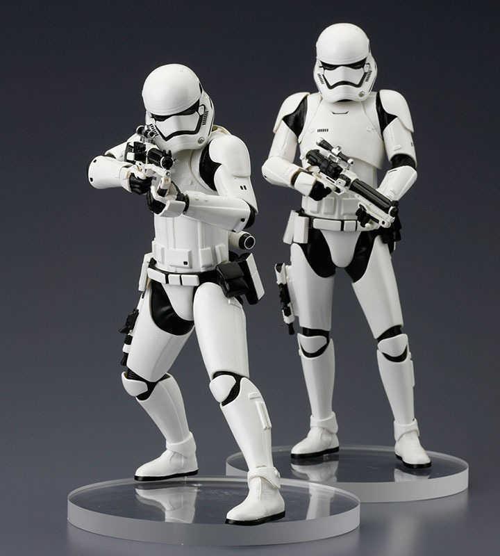 Star wars episode vii artfx + statue 2-paquete erster ordnung stormtrooper 18 cm