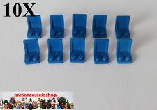10X Lego® 4079, Stuhl, Sitz, Chair, Seat, 2X2, Blau, Blue, 407923