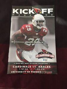 Arizona Cardinals NFC Championship Game Program 2009 Eagles To The Super Bowl!