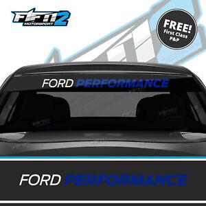 Ford-Performance-Focus-Universal-Sunstrip-Zetec-RS-Sun-Strip-Decal-ST-BLUE