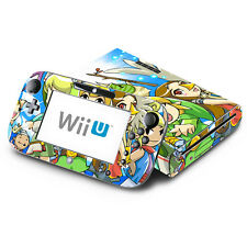 Skin Decal Cover for Nintendo Wii U Console & GamePad - Zelda The Wind Walker