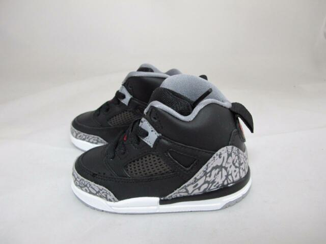 1734e4a0a56e Pre School Nike Air Jordan Spizike BP Black Cement Black white red 6 ...