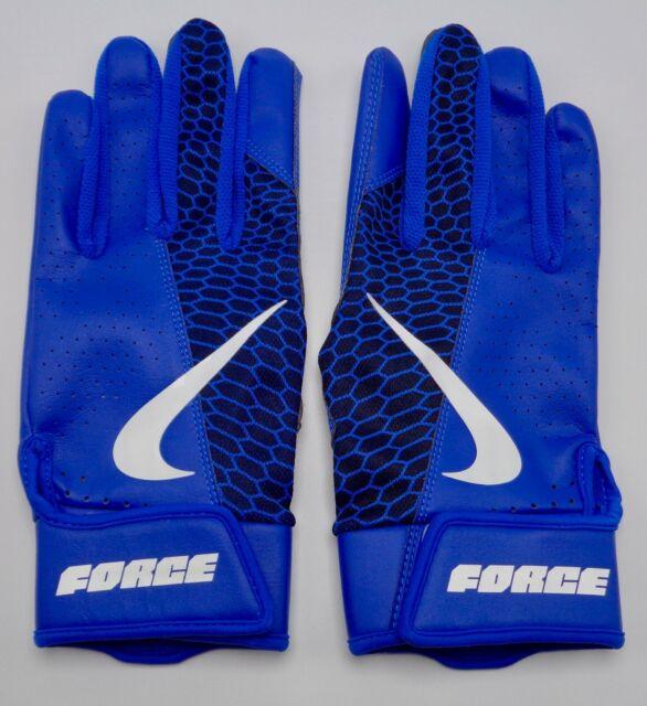 Nike Force Edge Batting Gloves Men's Small Game Royal/White/Black