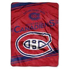 Montreal Canadiens 60x80 Plush Raschel Throw Blanket - Stamp Design [NEW] NHL