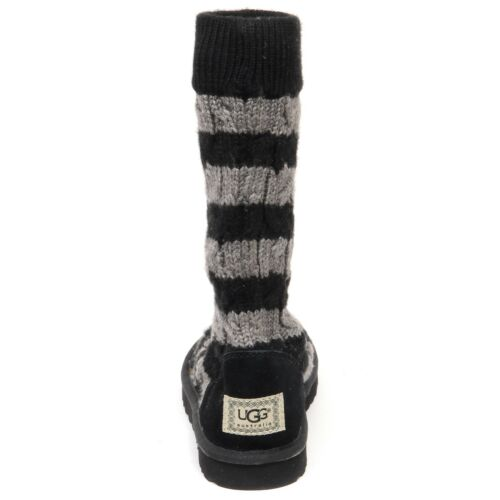 E9606 (NO BOX) stivale donna black/grey UGG scarpe wool/suede boot shoe woman