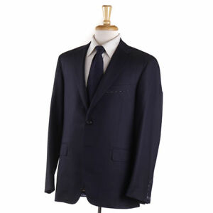 NWT-3695-OXXFORD-039-Randolph-039-Navy-Blue-Super-130s-Wool-Blazer-44-R-Sport-Coat