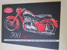 Motorrad Archiv Edition Faksimile 1063E Jawa 500 ohc Nachkriegsmodell Prospekt