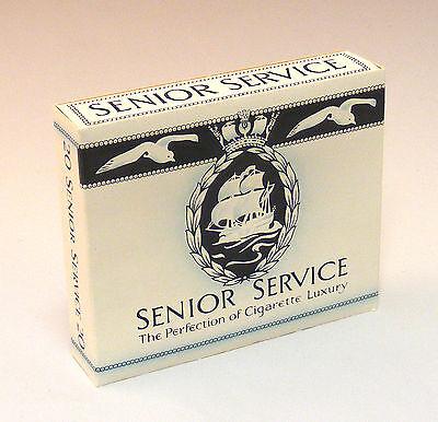 1:12 Scala Vuoto Senior Service 20 Pacchetto Sigarette Casa Delle Bambole Miniatura Bar- Elegante Nell'Odore