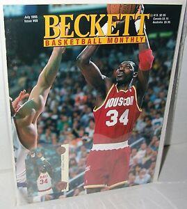 NBA-Beckett-July-1995-Issue-60-Hakeem-Olajuwan-Houston-Rockets-Basketball