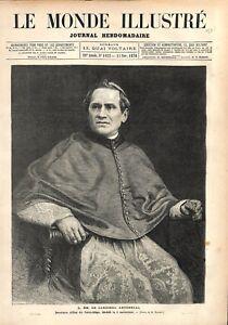 Cardinal Antonelli Secretaire d'état du Saint-Siège Vatican à Rome GRAVURE 1876 - France - Cardinal Antonelli Secretary of State of the Holy See Vatican in Rome France ATTENTION,QUE LA COUVERTURE, PAS LE JOURNAL ENTIER. Just the cover, not newspaper. ANTIQUE PRINTGRAVURE 100 % DÉPOQUE 1876 PORT GRATUIT EUROPE A PARTIR DE 4 OBJETS BUY  - France